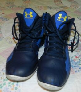 BOYS SIZE SEVEN (7) DARKLIGHT BLUE UNDER ARMOUR BASKETBALL SNEAKERS GREAT BUY