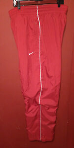 Men's NIKE Team Fit Dry Athletic Track Pants Red White Size XXL 2XL Running