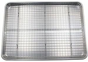 Checkered Chef Cookie Sheet and Rack Set - Aluminum Half Sheet Pan Baking Sheet