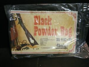 Tandy Leather Black Powder Bag No. 4447-02 Brown Bag 7.75