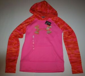 New Under Armour Cold Gear Hoodie Sweatshirt Girls Sz Youth Medium 10-12 Yr NWT