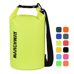 MARCHWAY Floating Waterproof Dry Bag 5L10L20L30L Roll Top Dry Sack for Boat