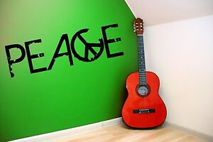 Peace Grunge Style Writing with Sign Wall Stickers Decals Decor 50cm x 170cm NEW