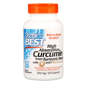 Doctor s Best Curcumin High Absorption 500 mg 120 Capsules Gluten Free, Soy Free