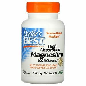 Doctor s Best High Absorption Magnesium 120 Tablets Gluten Free, Soy Free, Vegan