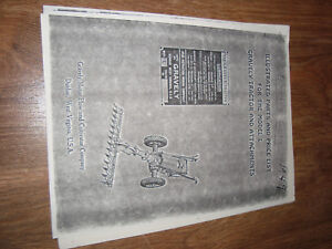 Gravely Illustrated Parts & Price List Model L Tractor And Attachments 1949 NWI