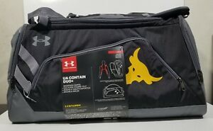 Under Armour Project Rock UA Contain Duo+ Backpack Duffel Bag (1304575)