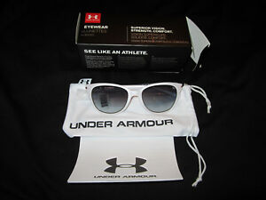 UNDER ARMOUR WOMEN'S SUNGLASSES SATIN PEARL GRAY GRADIENT 1268152-111