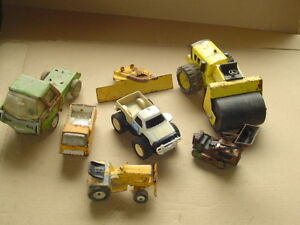 Lot of Vintage Tonka etc Metal truck construction etc pressed cast steel toys