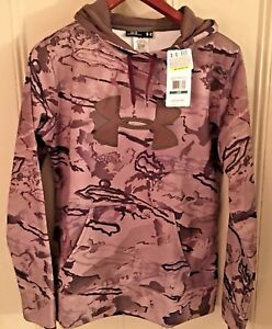 UNDER ARMOUR Women's UA Ridge Reaper Barren Camo Big Logo Hoodie LG MSRP$75 NWT