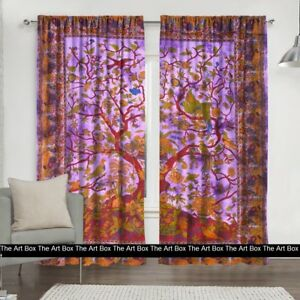Hippie Tree Of Life Indian Mandalal Curtains Window Decor Wall Hanging  Tapestry