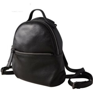 Cowhide Leather Women Backpack Fashion Casual Small For Female Unique Fold Lady