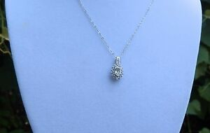 Turkish Diaspore (Turkizite) & Zircon Sterling Silver Pendant with Chain