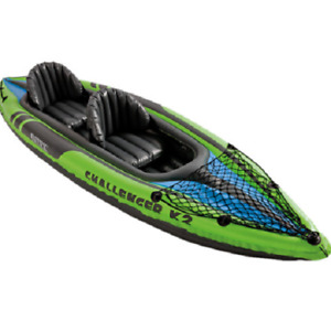 Intex Challenger K2 2 Person Inflatable Sporty Kayak Oars And Pump 68306EP
