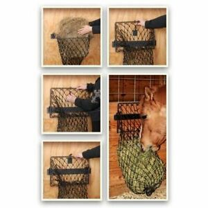 Tough 1 Hay Hoops Original Collapsible Wall Feeder with Net - Load Quickly