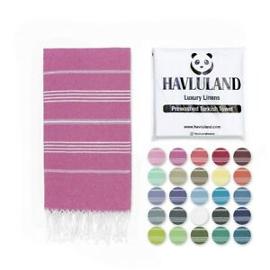 Havluland Extra Large Beach Pool 100% Turkish Cotton Towel 70'' X 39''