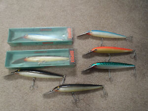 Lot of 7 Rapala CD 18 Magnum CD18 MAG fishing lures Made in Finland