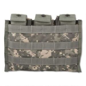 US Military Molle Triple Mag Pouch ACU Digital 8465-01-525-0598 Free Shipping