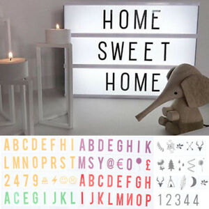 A4 Cinematic Light Up Sign Box Cinema LED Letter Light Home Party Wedding Decor