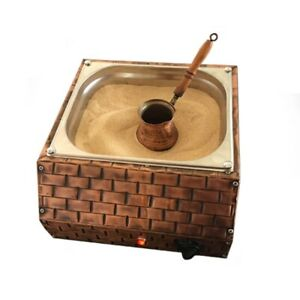 Copper Sand Coffee Machine (Small) + 2 Coffee Pots + 100gr Turkish Coffee