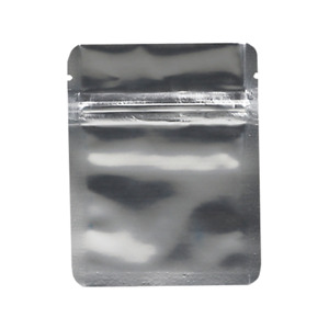 Small High Quality Fishing Lure Reclosable Zipper Bags Solid Silver (50PCS)