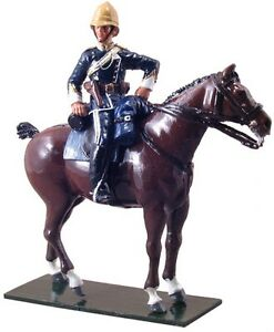 W Britain Soldiers 44031 Redcoats Officer 17th Lancers 1879 54mm Collectible