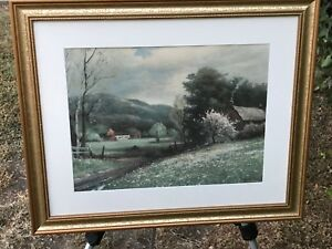 ROBERT WOOD Vintage 1957 MODERN ABSTRACT IMPRESSIONIST ART GALLERY LITHOGRAPH