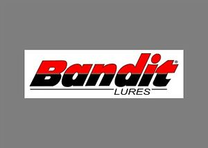 BANDIT lures decals stickers bass boat tournament sponsor fishing baits rod reel