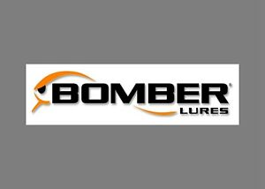 BOMBER lures decals stickers bass boat tournament sponsor fishing rod reel