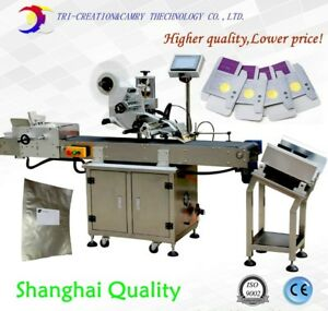 automatic bag plane paging labeling machineadhesive plate labelercard topside