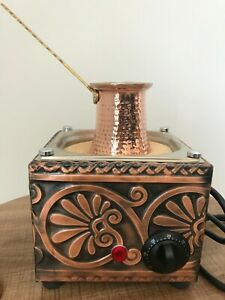 Copper Sand Coffee Machine (Small) + 100gr Turkish Coffee + 2 Coffee Pots