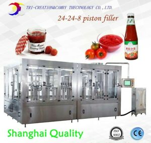 hot sauce filling machine24-24-8 1Lketchup washing filling capping machine