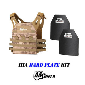 AA Shield Molle Carrier Military Tactical Vest IIIA Hard Plate 3A KitBanshee