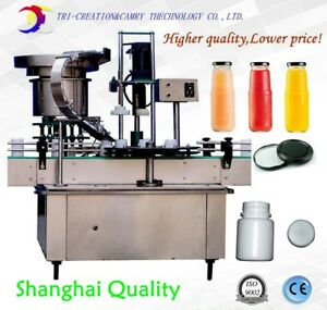 jar capping machinewith feederplastic bottle capping machinemetal cap capper