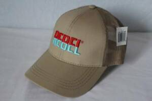 NEW Mens Rebel Baseball Cap Tan Khaki Trucker Hat Fishing Lure Bait Bass Trout *