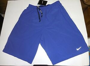 Nike Authentic Men's 9 Inch Dri-Fit Running Shorts Blue White Green