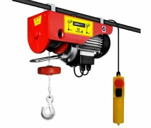 New 1200w Electric Hoist Winch Rope Tool 16.5 Kg Emergency Instant Stop Switch