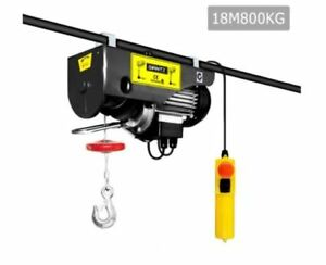 New 1300w Electric Hoist Winch Pro Lift Equipment Emergency Instant Stop Switch