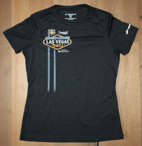 BROOKS Women's Small Black Silver Running Jogging Shirt Las Vegas Marathon