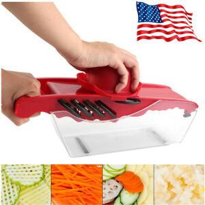 Manual Vegetable Mandoline Slicer Potato Fruit Cutter Stainless Steel Kitchen US