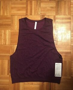 Lululemon Aurora Black Athletic Sports Breeze By Muscle Tank Top 10 New