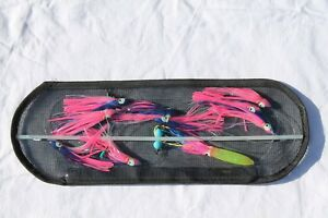 18-inch Flexible Spreader Bar w BLUE and PINK Squids Hook Lure and Storage Bag
