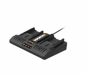 WA3875 WA3732 Dual Port Battery Charger for Trimmer Hedge Trimmer Blower
