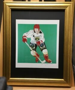 Andy Warhol Hand Signed special Print Ice Hockey Player 1986 COA