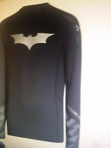New Under Armour Boys Alter Ego Batman XL youth Cold Gear Fitted Mock Tee