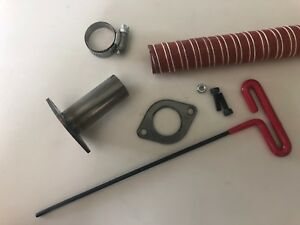 GenExhaust for Honda EU3000is Generator 1quot; silicone exhaust extension 3 foot