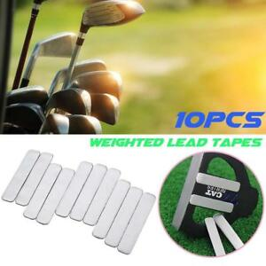10Pcs Lead Tapes to Add Swing Weight for Golf Club Tennis Racket Iron Putter