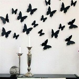 24Pcs/Lot PVC 3D DIY Butterfly Wall Stickers Home Decor Poster