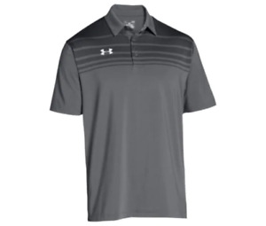 New Under Armour Big and Tall Logo Golf Polo Shirt 4XL 4X XXXXL Graphite