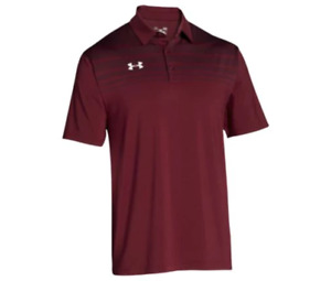 New Under Armour Big and Tall Logo Golf Polo Shirt 4XL 4X XXXXL Maroon